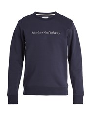 Saturdays Surf Nyc Bowery Cotton Sweatshirt Navy