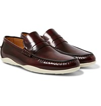 Harry's Of London Basel 4 Glossed Leather Penny Loafers Burgundy