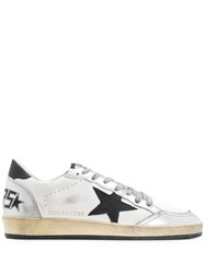 Golden Goose Distressed Superstar Sneakers White