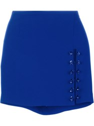 Versus Lion Pin Fitted Skirt Blue