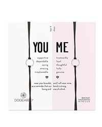 Dogeared You And Me Friendship Bracelets Set Of 2 Black