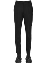 Rick Owens Slim Virgin Wool Blend Pants Black