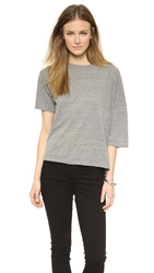 Oak Drop Shoulder Tee Heather Grey