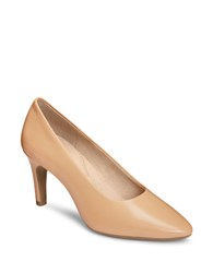 Aerosoles Exquisite High Heel Leather Pumps Nude