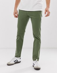 Esprit Slim Fit Chinos In Green