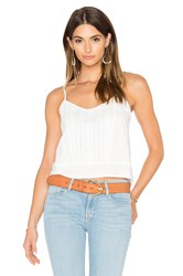 Frame Denim Le Lace Cami White