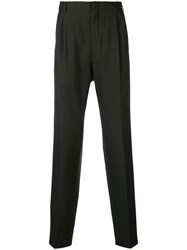 Romeo Gigli Vintage Tapered Tailored Trousers Grey
