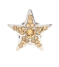 Jimmy Choo Small Starry Crystal Shoe Clip Silver