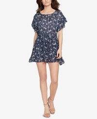 William Rast Flutter Sleeve Fit And Flare Dress Astral Aura Magic Moment Allover