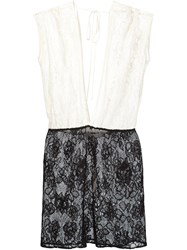 Fleur Du Mal Lace Mini Dolman Dress White