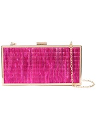 Christian Siriano Ribbed Boxy Clutch Pink