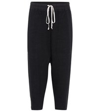 Rick Owens Cotton Trackpants Black
