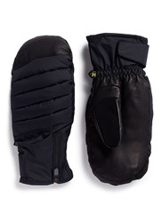 Burton 'Oven' Down Padded Leather Ski Mittens Black