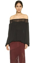 Tamara Mellon Off Shoulder Blouse Black