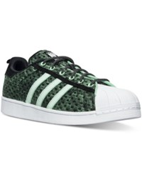 Adidas Men's Originals Superstar '80S Gid Casual Sneakers From Finish Line Core Black Shock Mint Whi