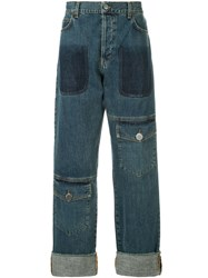 J.W.Anderson Jw Anderson Shaded Pocket Detail Jeans Blue