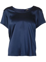 Adam By Adam Lippes Adam Lippes Scoop Neck T Shirt Blue