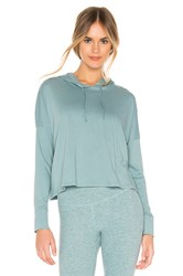 Beyond Yoga Beach Worn Cropped Pullover Blue