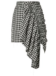Marques Almeida Marques'almeida Checked Asymmetric Skirt Black