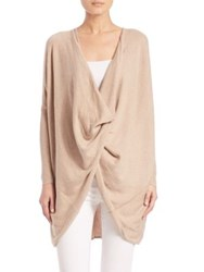 Tart Rose Cotton And Cashmere Cardigan Camel