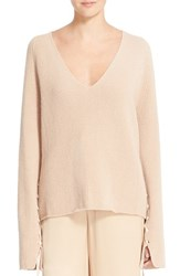 Helmut Lang Women's Lace Up Sleeves Wool And Cashmere Sweater