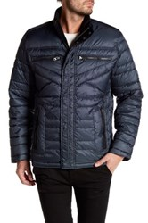 Bugatchi Long Sleeve Puffy Jacket Blue