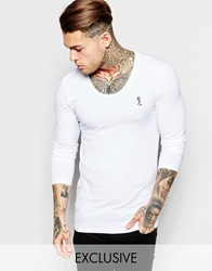 Religion Muscle Fit Long Sleeve Top White