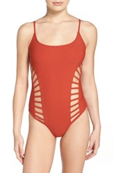 Red Carter Women's Cutout One Piece Swimsuit