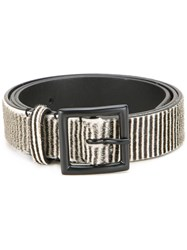 Haider Ackermann 'Baddeley' Belt White