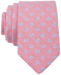 Bar Iii Carnaby Collection Swan Pine Skinny Tie Red