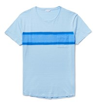 Orlebar Brown Harry Lim Fit Triped Lub Cotton Jerey T Hirt Ky Blue Sky Blue