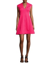 Vince Camuto Textured Cap Sleeve Dress Hot Pink