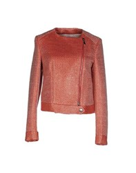 Tonello Coats And Jackets Jackets Women Brick Red
