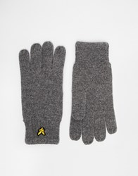 Lyle And Scott Racked Rib Gloves Grey