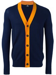 Paul Smith Ps By V Neck Cardigan Blue