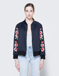 Frankie Scuba Embroidered Bomber Navy