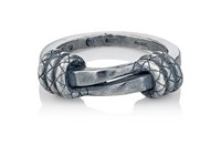 Bottega Veneta Men's Sterling Silver Twisted Ring