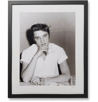 Sonic Editions Framed Elvis At Diner Print 17 Black