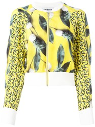 Cacharel Pineapple Print Bomber Jacket Yellow Orange
