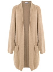 Mara Mac Knitted Long Cardigan Neutrals