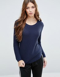 Blend She Cabes Long Sleeved T Shirt Peacoat Blue