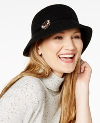 Inc International Concepts Brooch Cloche Created For Macy's Black