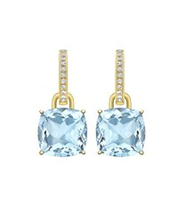 Kiki Mcdonough Classic 18K Gold Detachable Drop Earrings Blue
