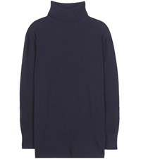 Callens Knitted Wool And Cashmere Sweater Blue