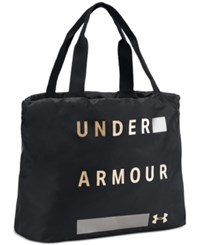 Under Armour Favorite Tote Bag Black Metallic Victory Gold