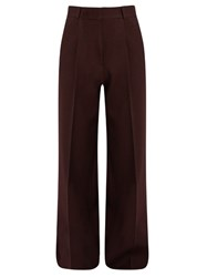 Raey Pleat Front Crepe Trousers Burgundy