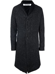 Individual Sentiments Woven Stand Collar Coat Black