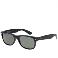 Ray Ban Ray Ban New Wayfarer Sunglasses Matte Black Rubberised