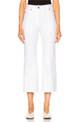 Calvin Klein Collection Fray Bis Five Pocket Jeans In White