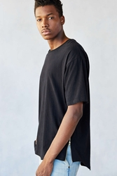 The Narrows Side Zip Droptail Tee Black